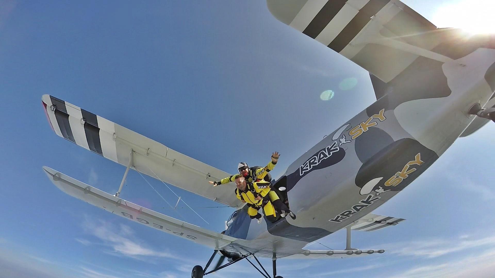 skoki na spadochronie tandem kraków +66+