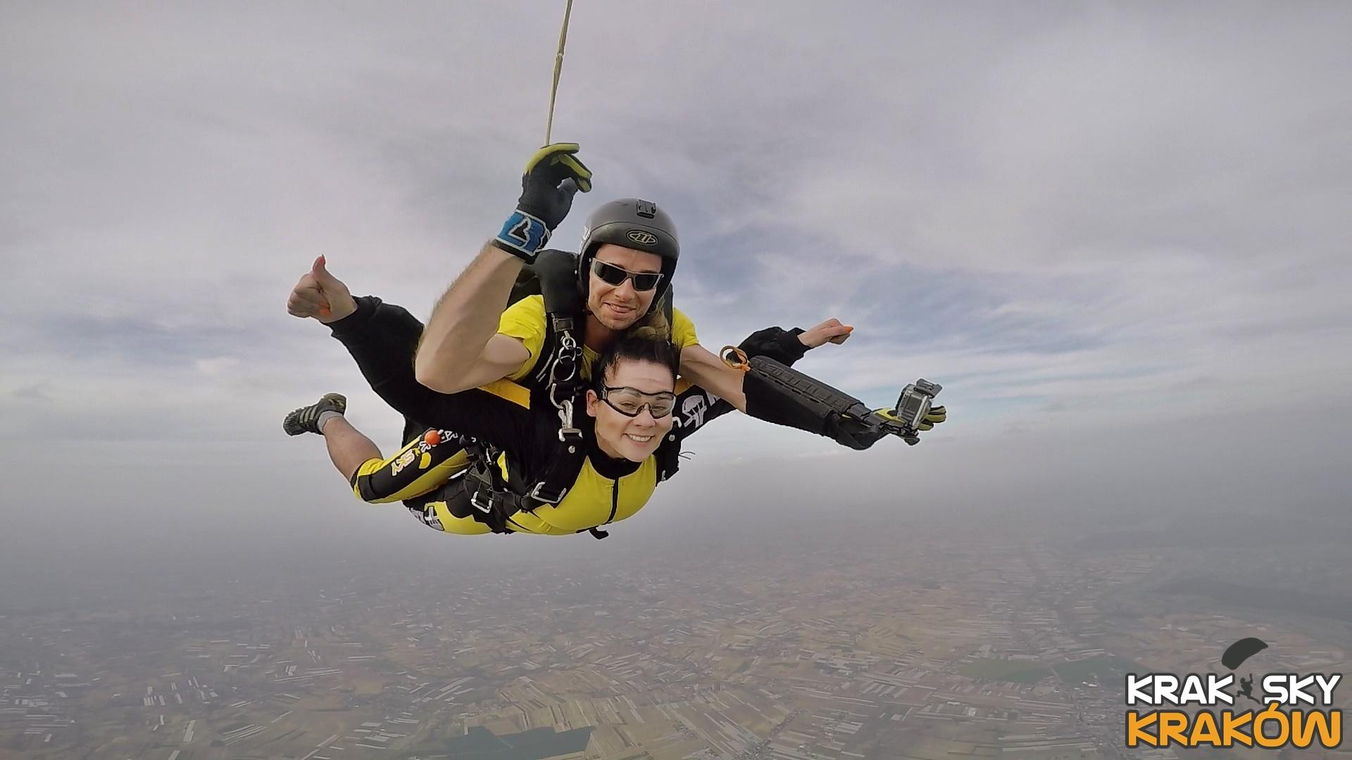 skoki na spadochronie tandem kraków
